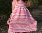 Carson Dress Crochet PATTERN - Girl's Crochet Dress Pattern