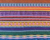 Crochet Blanket PATTERN - Crochet Afghan Pattern - Scrap Yarn Blanket - Scrapghan - Stitch Sampler