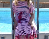 Cover Up Crochet PATTERN - Swim Suit Cover Up - Bathing Suit Cover Up - Summer Crochet Pattern - Kid's Crochet Pattern