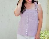 Crochet Top PATTERN - Crochet Summer Pattern - Crochet Tank Top Pattern