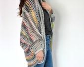 Urban Chic Cocoon Sweater Crochet Pattern - Crochet Sweater Pattern