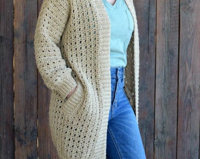 Cafe au Lait Cardigan Crochet Pattern