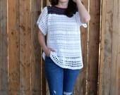 Crochet Top PATTERN - Crochet Blouse Pattern - Swim Suit Cover Crochet Pattern - Easy Crochet Pattern - Beginner Crochet Pattern