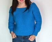 Cozy Cropped Sweater Crochet PATTERN