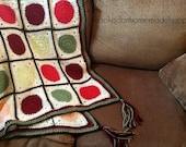 Crochet Blanket PATTERN - Fall Crochet Blanket - Autumn Crochet Blanket - Crochet Pattern - Fall Crochet Pattern - Autumn Crochet Pattern