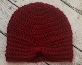 Turban Style Beanie Crochet PATTERN
