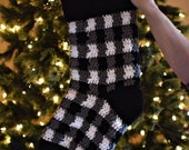 Plaid Crochet Stocking PATTERN