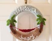 Crochet Wreath PATTERN - Summer Crochet Pattern - Home Decor Crochet Pattern - Wreath - Crochet Wreath