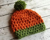 Easy Pumpkin Beanie Crochet PATTERN