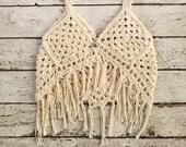 Boho Girl's Vest Crochet PATTERN - Girl's Fashion - Crochet Pattern - Boho Style - Crochet Tank Top