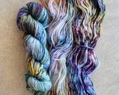Hand Dyed Yarn - Worsted Weight Yarn - Superwash Merino Wool Yarn - Mystique