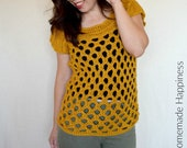 Honeycomb Top Crochet PATTERN - Crochet Top Pattern - Crochet Pattern - Crochet Top