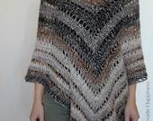 Crochet Poncho PATTERN - Easy Crochet Pattern - Beginner Crochet Pattern - Crochet Shawl Pattern - Crochet Wrap Pattern