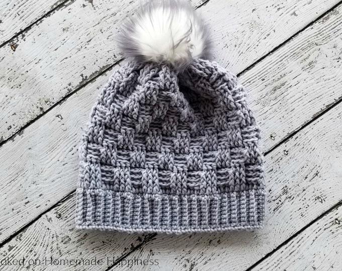 Woven Beanie Crochet Pattern