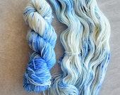 Hand Dyed Yarn - Worsted Weight Yarn - Superwash Merino Wool Yarn - Clear Skies