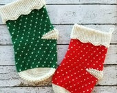 Oversized Christmas Stocking Crochet PATTERN