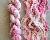 Hand Dyed Yarn - Worsted Weight Yarn - Superwash Merino Wool Yarn - Bloom