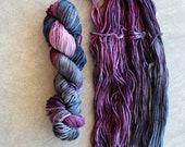 Hand Dyed Yarn - DK Weight Yarn - Superwash Merino Wool Yarn - Summer Storm