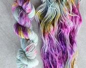Hand Dyed Yarn - Sport Weight Yarn - Superwash Merino Wool Yarn - Meltaway