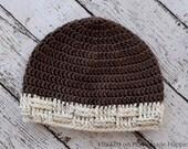 Crochet Beanie PATTERN - Crochet Mens Beanie Pattern - Crochet Toque Pattern - Crochet Hat Pattern - Easy Crochet Pattern
