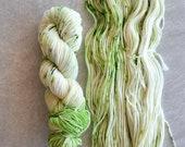 Hand Dyed Yarn - Worsted Weight Yarn - Superwash Merino Wool Yarn - Sprout