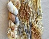 Hand Dyed Yarn - Worsted Weight Yarn - Superwash Merino Wool Yarn - Retro Couch