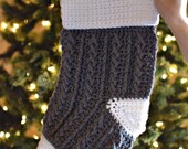 Cable Crochet Stocking PATTERN