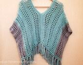 Spring Breeze Poncho Crochet PATTERN