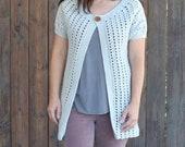 Crochet Cardigan PATTERN - Crochet Sweater Pattern - Crochet Top Pattern