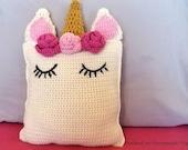 Unicorn Pillow Friend Crochet Pattern  - Crochet Amigurumi Pattern