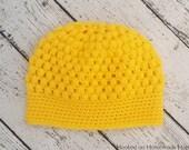 Puff Stitch Beanie Crochet PATTERN