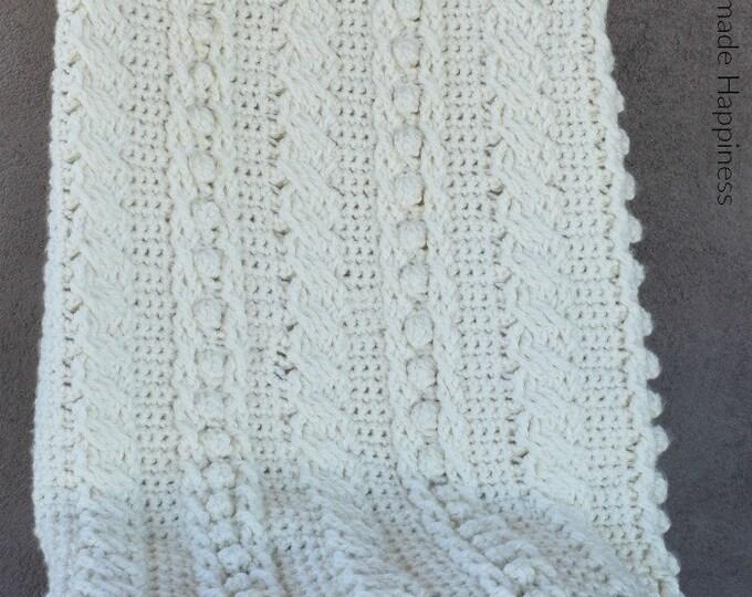 Crochet Cable Blanket Crochet Pattern