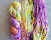 Hand Dyed Yarn - Sport Weight Yarn - Superwash Merino Wool Yarn - Heartbreaker