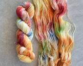 Hand Dyed Yarn - Sport Weight Yarn - Superwash Merino Wool Yarn - Crayola