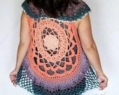 Mandala Vest Crochet PATTERN - Circle Vest Crochet Pattern - Yarn Cake Pattern - Crochet Top Pattern - Crochet Vest Pattern