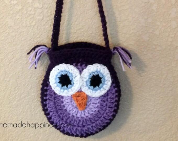 Crochet Owl Purse Pattern