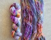 Hand Dyed Yarn - Sport Weight Yarn - Superwash Merino Wool Yarn - Nightlife