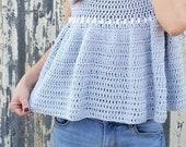 Crochet Top PATTERN - Peasant Top - Crochet Summer Top Pattern - Crochet Spring Top Pattern - Cotton Top
