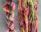Hand Dyed Yarn - Worsted Weight Yarn - Superwash Merino Wool Yarn - Summertastic