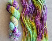 Hand Dyed Yarn - Worsted Weight Yarn - Superwash Merino Wool Yarn - Meltaway