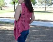 Summer Vest Crochet PATTERN - Crochet Wrap Pattern - Summer Crochet Pattern - Cardigan Crochet Pattern
