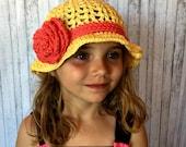 Sunshine & Roses Crochet Summer Hat PATTERN