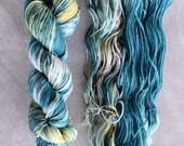 Hand Dyed Yarn - DK Weight Yarn - Superwash Merino Wool Yarn - Kokomo