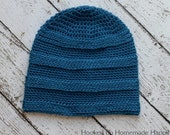 Textured Stripe Beanie Crochet PATTERN