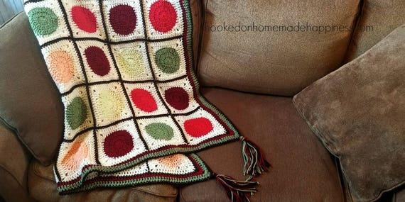 Crochet Blanket Pattern Fall Crochet Blanket Autumn Etsy