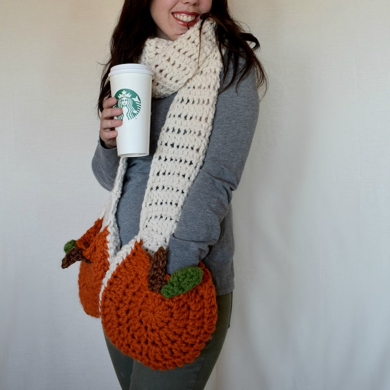 Crochet Super Scarf Pattern Crochet Pumpkin Pattern Etsy
