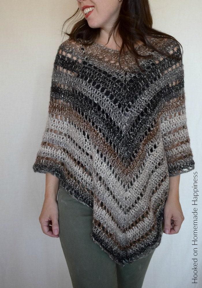Crochet Poncho Pattern Easy Crochet Pattern Beginner Etsy