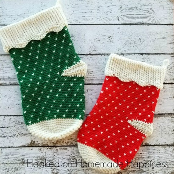 Crochet Stocking Pattern Christmas Stocking Crochet Pattern Etsy