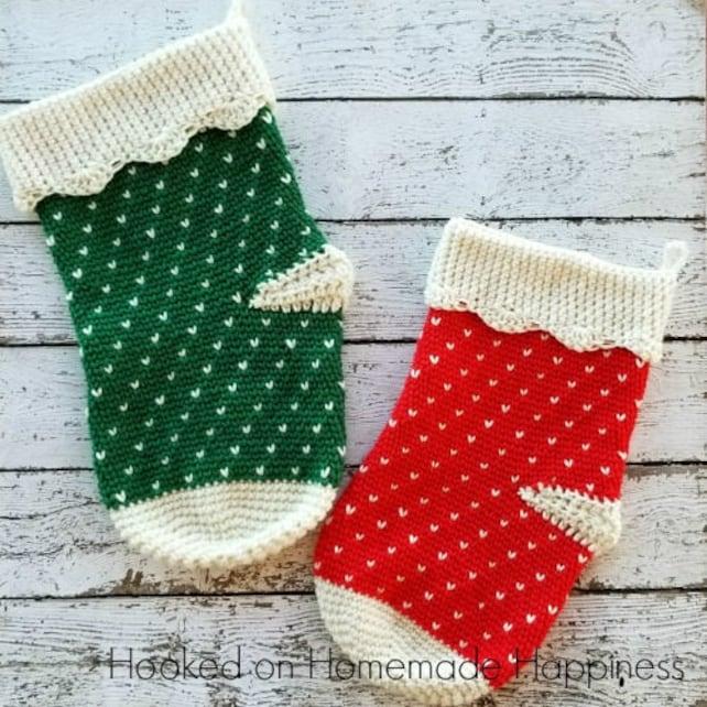 Crochet Stocking Pattern Christmas Stocking Crochet Pattern Etsy