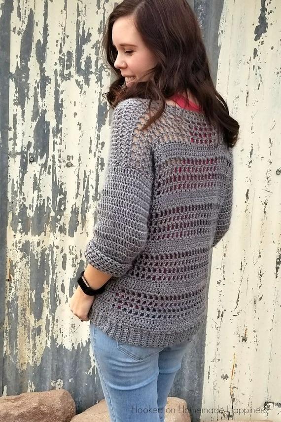 Crochet Sweater Pattern Easy Crochet Pattern Crochet Top Etsy